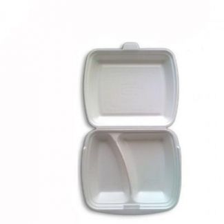 Meal box with 2-sections disposable 25×20.5cm h-7.5cm 125pcs