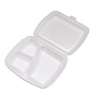 Food Boxes with 3-sections disposable 25 × 20.5cm h-7.5cm 25pcs