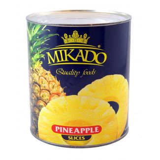 Pineapple slices in light syrup 850ml/490g Mikado