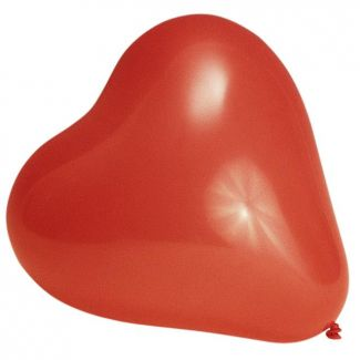Balloon Heart ø26cm 70cm 10pcs red