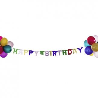 Balloon garland HAPPY BIRTHDAY 18psc L-95cm