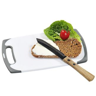 Cutting board plastic with anti-bacterial coating 25x15x1cm