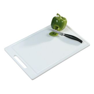 Cutting board plastic 44×29cm white with handle