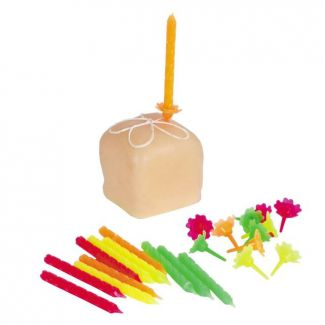 Birthday candles with holder 24+12