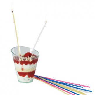 Party Candles h-165mm mixed 20pcs