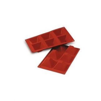 Silicone mould PYRAMIDS 71x71mm h40mm 6x90 ml