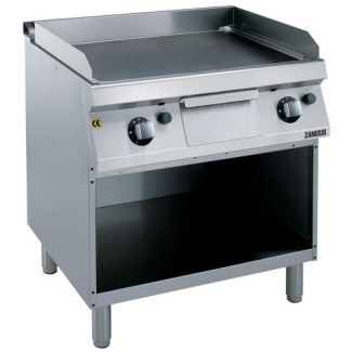 Gas cooking surface with the base
