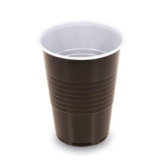 Thermo cup disposable 180ml 100pcs brown-white