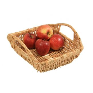 Basket wooden with handles 29×27cm h-19cm