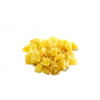 Dehydrated ginger dices with cristallized sugar 40g