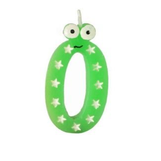 Jubilee candle-numeral 0 h-9cm green