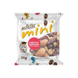 Nuts and cranberries, dried sweetened 30g