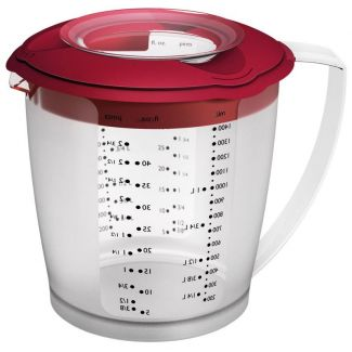 Mixing jug whit lid HELENA red