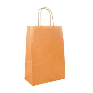 Paper bag with handles 20x10x29cm beige