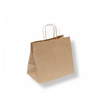 Paper bag with handles 26x17x24cm brown