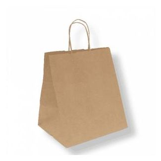 Paper bag with handles 26x20x27cm beige
