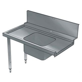 Pre-wash table with shelf 1200mm