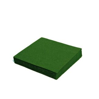 Napkins 33cm 2-ply 50pcs dark green