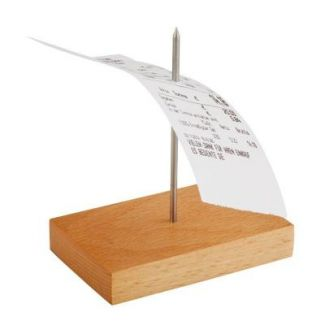Stand for receipts with one needle 9x5.5cm h-10.5cm