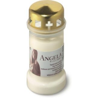 Grave candle ANGELA white