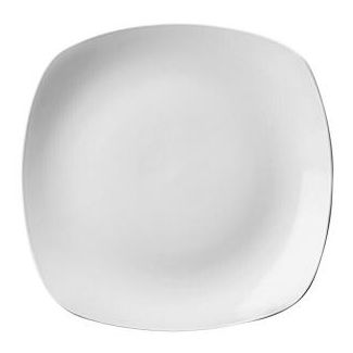 Plate X SQUARED 24cm white