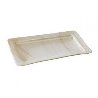 Palm leaf plate 28.5x18cm 10pcs