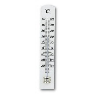 Thermometer indoor 180x30mm 45g white wood