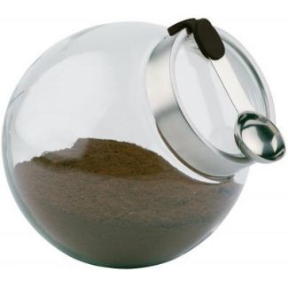 Canister with s/s magnetic spoon silicone handle