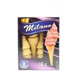 Wafer cups for ice creams MILANO 16pcs 40g