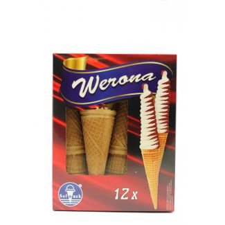 Wafer cups for ice creams WERONA 12pcs 40g