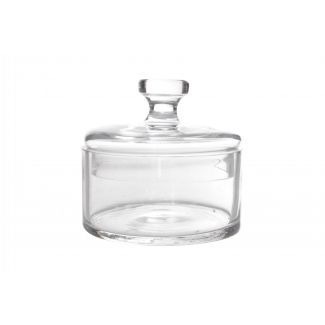 Glass dish with lid ø13cm h-12.5cm