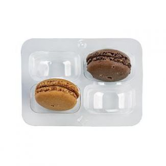 Containers for macaroon transparent 50pcs 2-section