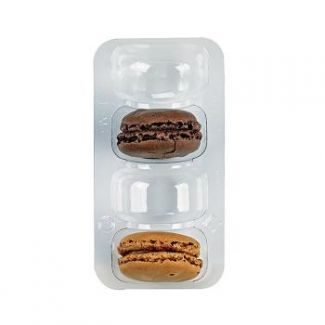 Containers for macaroon transparent 50pcs 4-section