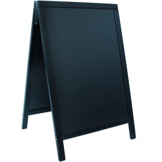 Duplo pavement chalkboard SECURIT with lacquered black finish 55x85cm
