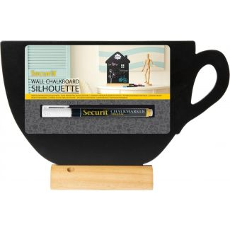Securit Silhouette cup chalkboard including chalkmarker  22x33x6cm