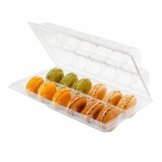 Containers for macaroon transparent 12-section