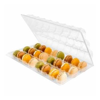 Containers for macaroon transparent 24-section