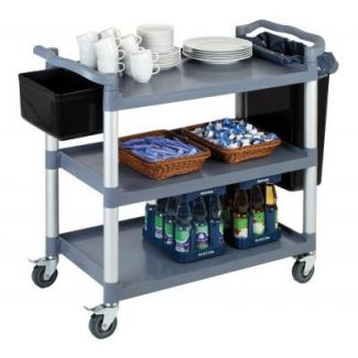 Trolley for serving with three shelves 108x50cm h-96cm