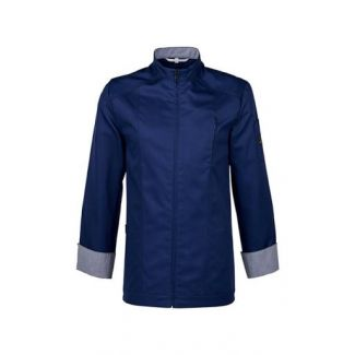 Chef jacket size L dark blue