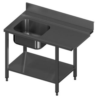 Pre-wash table with shelf