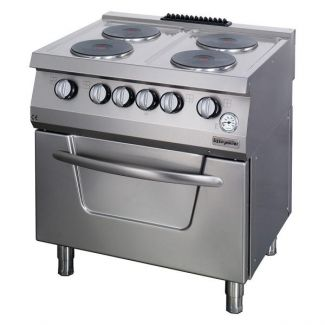 Electric stove with 4 hotplates and electric oven