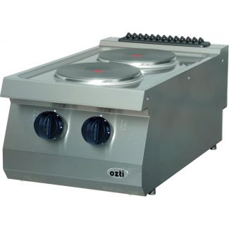 Surface electric cooker with two hotplates