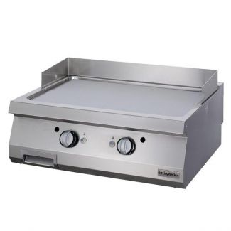 Electric grill with chrome cooking surface