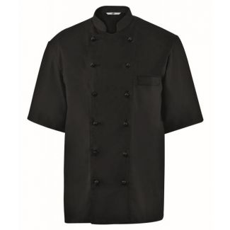 Chef jacket short sleev size M black