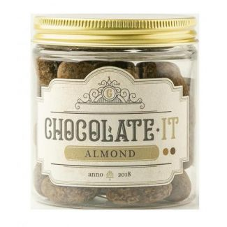 Caramelized almonds in milk and dark chocolate with coffee 150g