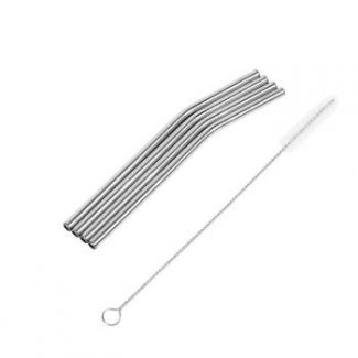 Stainless steel straw 4pcs 150 mm and a brush