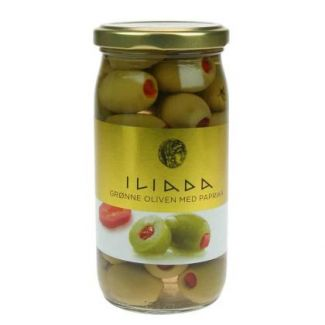 Green stuffed olives with natural pepper  370g/215g