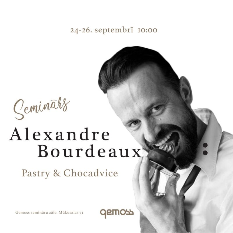 Seminar of unique programme for confectioners with Alexandre Bourdeaux