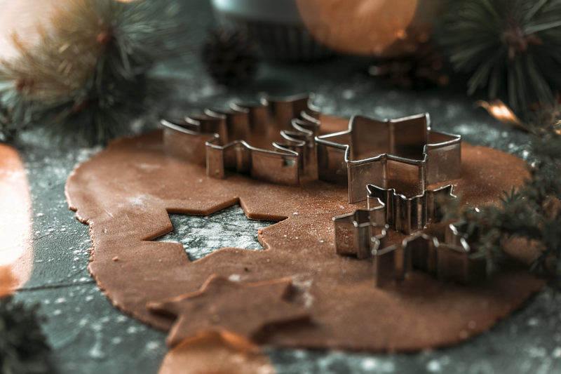 Gingerbread dough with honey